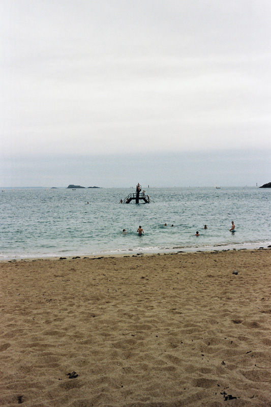 The plage of the Saint Malo